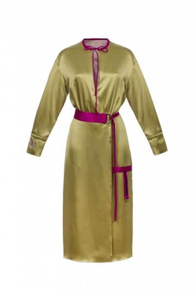 Платье на запах с поясом SKR_10007_outlet, фото 1 - в интеренет магазине KAPSULA