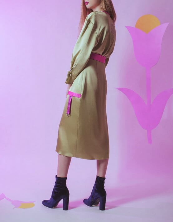 Платье на запах с поясом SKR_10007_outlet, фото 4 - в интеренет магазине KAPSULA