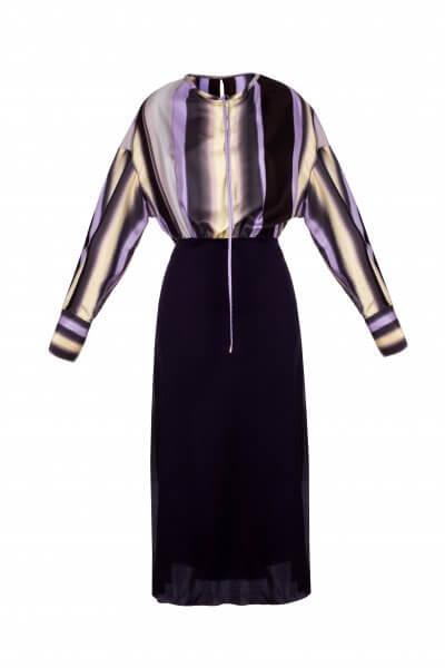 Шелковое платье на кулиске SKR_10008_outlet, фото 1 - в интеренет магазине KAPSULA