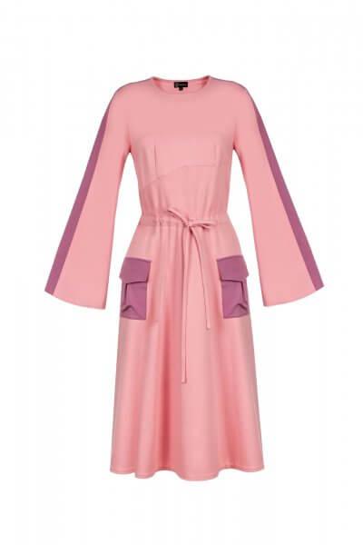Платье миди на кулиске SKR_10009_outlet, фото 1 - в интеренет магазине KAPSULA
