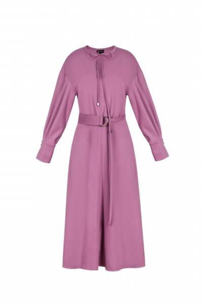 Платье миди с поясом SKR_10011_outlet, фото 1 - в интеренет магазине KAPSULA