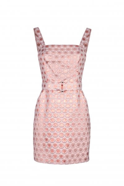 Жаккардовое платье мини SKR_10013_outlet, фото 3 - в интеренет магазине KAPSULA