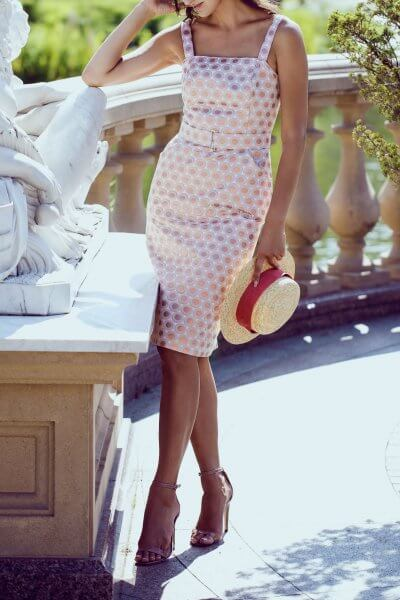Жаккардовое платье миди SKR_10014_outlet, фото 5 - в интеренет магазине KAPSULA