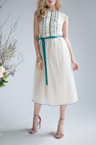 Шелковое платье миди SKR_10015_outlet, фото 1 - в интеренет магазине KAPSULA