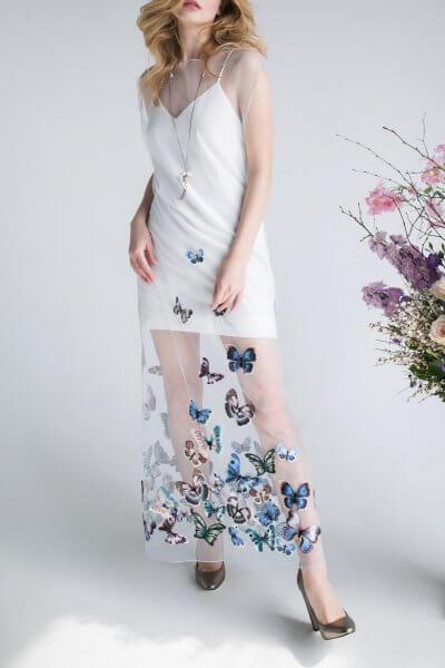 Платье с футляром  и вышивкой SKR_10018_outlet, фото 1 - в интеренет магазине KAPSULA