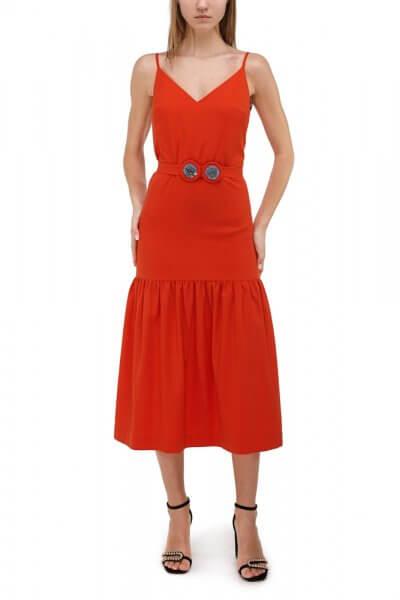 Хлопковое платье на подкладе SKR_10020_outlet, фото 4 - в интеренет магазине KAPSULA