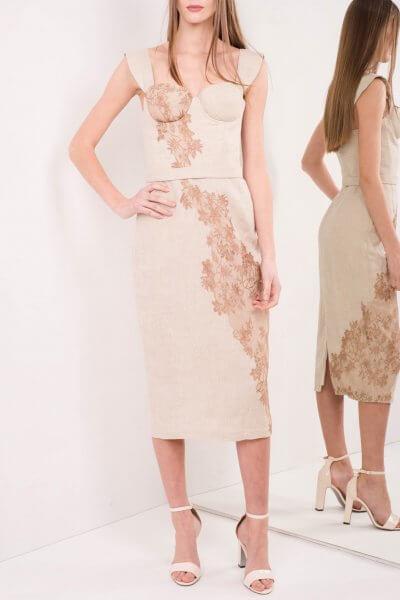 Корсетное платье из льна и кружева SKR_10028_outlet, фото 1 - в интеренет магазине KAPSULA