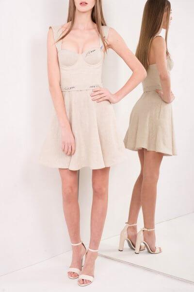 Платье-бюстье из льна SKR_10030_outlet, фото 5 - в интеренет магазине KAPSULA