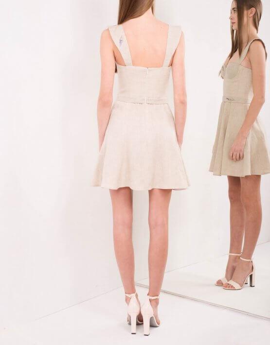 Платье-бюстье из льна SKR_10030_outlet, фото 3 - в интеренет магазине KAPSULA