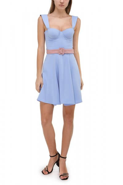 Платье-бюстье на бретелях SKR_10030_blue-outlet, фото 3 - в интеренет магазине KAPSULA