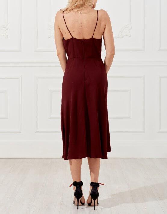 Платье-миди из шелка SKR_10041_outlet, фото 3 - в интеренет магазине KAPSULA