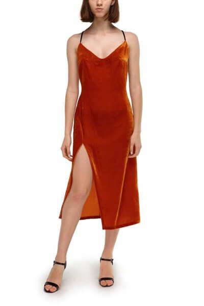 Бархатное платье из шелка SKR_10045_outlet, фото 1 - в интеренет магазине KAPSULA