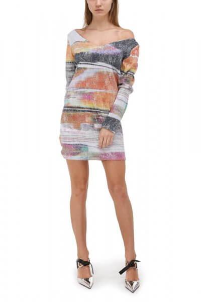 Платье мини с пайетками SKR_10048_outlet, фото 1 - в интеренет магазине KAPSULA
