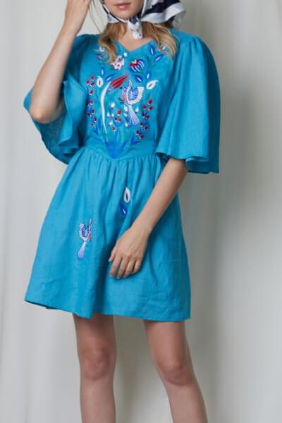 Мини-платье КВЕЗАЛЬ FOBERI_SS20010, фото 1 - в интеренет магазине KAPSULA