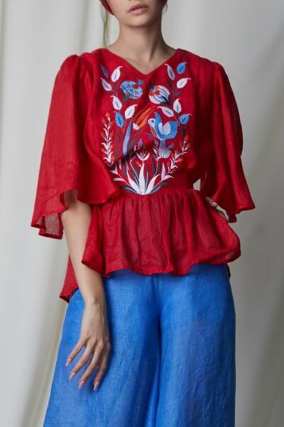 Блуза КВЕЗАЛЬ FOBERI_SS20015, фото 1 - в интеренет магазине KAPSULA
