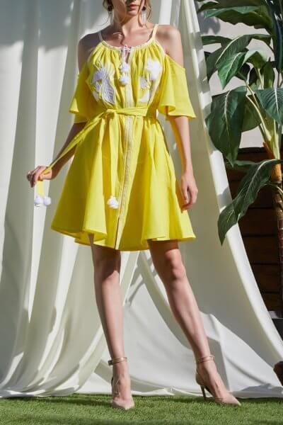 Мини-платье ЭДЭМ FOBERI_SS20027, фото 1 - в интеренет магазине KAPSULA