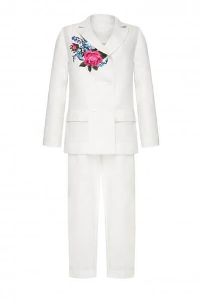 Льняной костюм РОЗА FOBERI_SS20042, фото 2 - в интеренет магазине KAPSULA