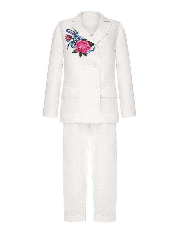 Льняной костюм РОЗА FOBERI_SS20042, фото 1 - в интернет магазине KAPSULA