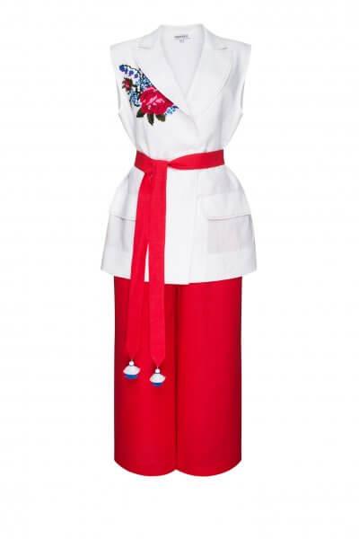 Льняной костюм из жилета и кюлот РОЗА FOBERI_SS20043, фото 1 - в интеренет магазине KAPSULA
