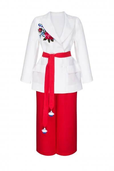 Льняной костюм из жакета и кюлот РОЗА FOBERI_SS20044, фото 2 - в интеренет магазине KAPSULA