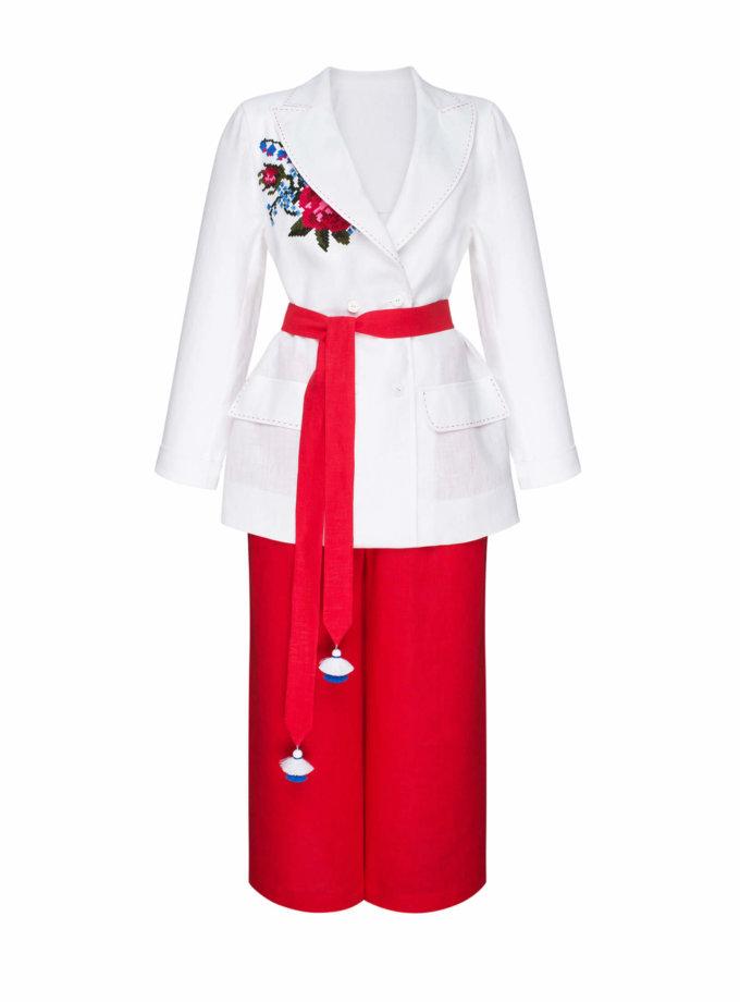 Льняной костюм из жакета и кюлот РОЗА FOBERI_SS20044, фото 1 - в интернет магазине KAPSULA
