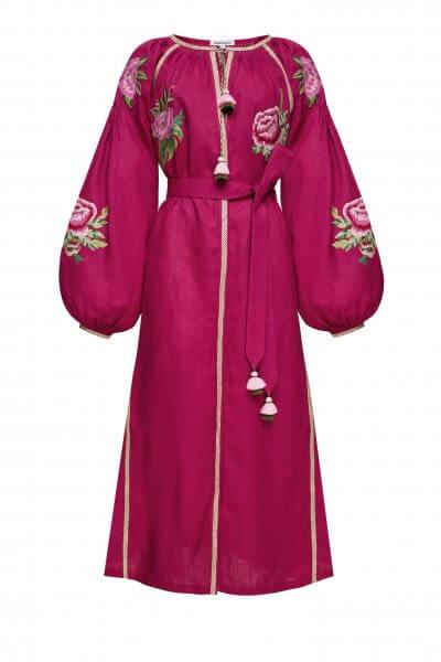 Льняное платье миди ФЛОРА FOBERI_SS20051, фото 1 - в интеренет магазине KAPSULA