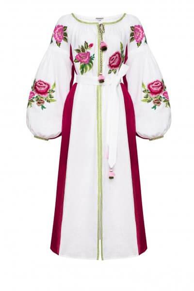 Льняное платье миди ФЛОРА FOBERI_SS20054, фото 1 - в интеренет магазине KAPSULA
