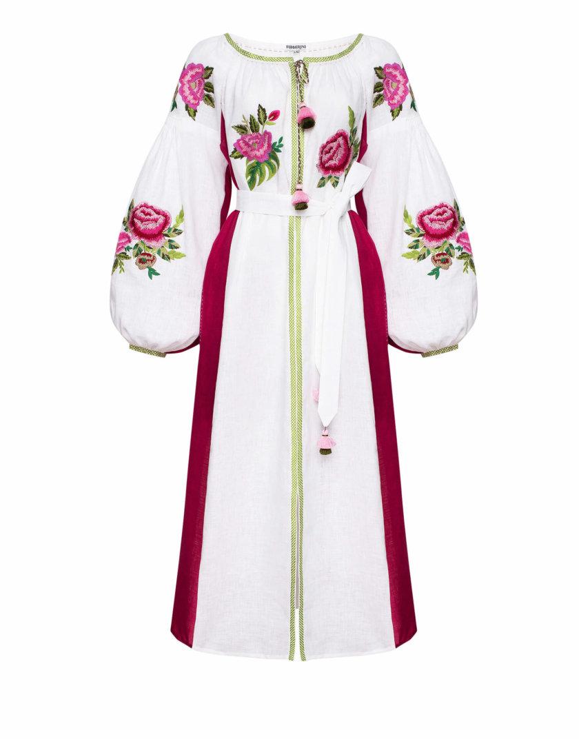 Льняное платье миди ФЛОРА FOBERI_SS20054, фото 1 - в интернет магазине KAPSULA