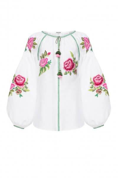 Льняная блузка ФЛОРА FOBERI_SS20056, фото 3 - в интеренет магазине KAPSULA