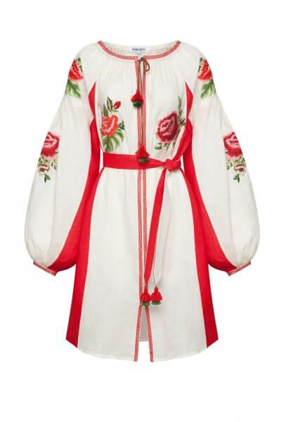 Льняное платье мини ФЛОРА FOBERI_SS20058, фото 1 - в интеренет магазине KAPSULA