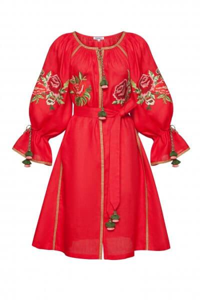 Льняное платье мини ФЛОРА FOBERI_SS20059, фото 3 - в интеренет магазине KAPSULA