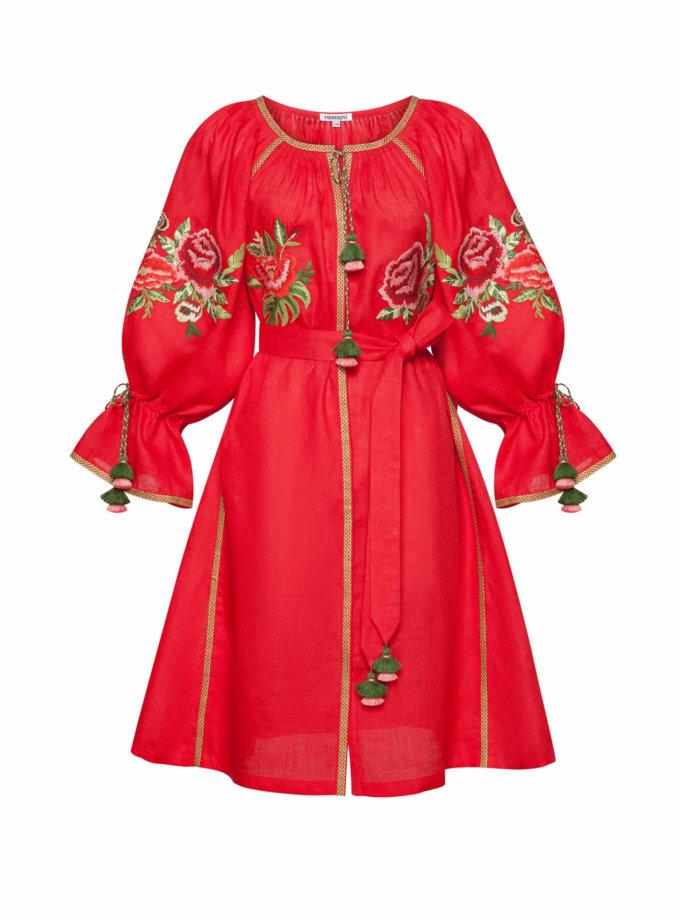 Льняное платье мини ФЛОРА FOBERI_SS20059, фото 1 - в интеренет магазине KAPSULA