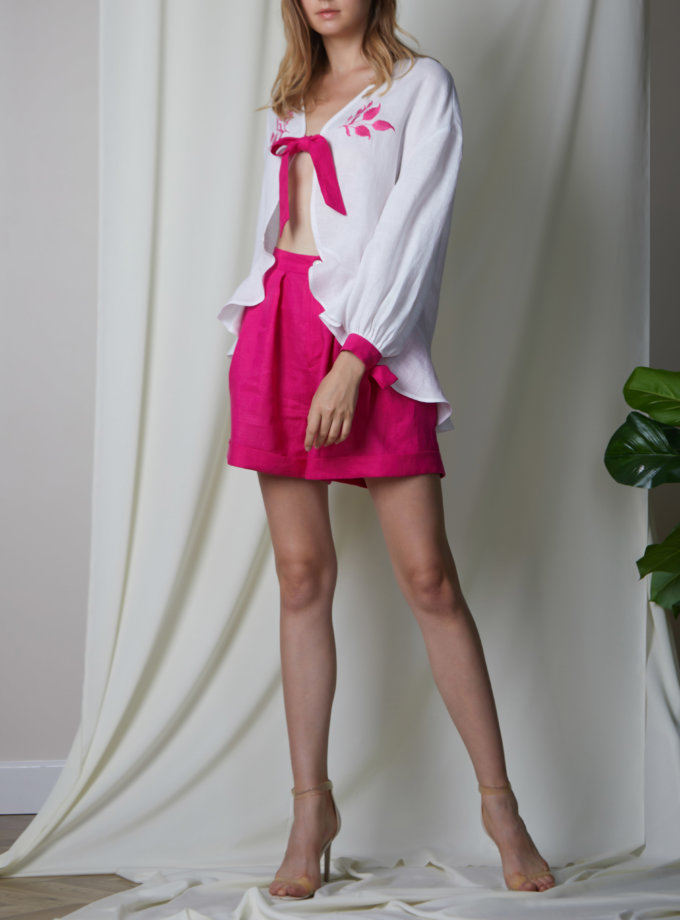 Льняной костюм Азалия FOBERI_SS20070, фото 1 - в интеренет магазине KAPSULA