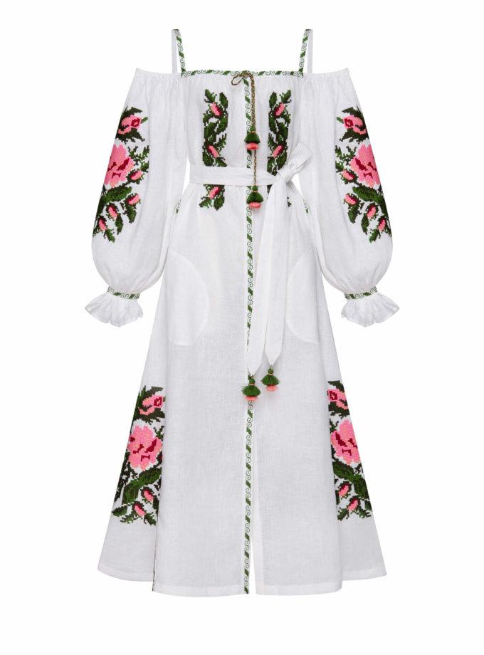 Льняное платье миди КЛЭР ШИК FOBERI_SS20091, фото 1 - в интеренет магазине KAPSULA