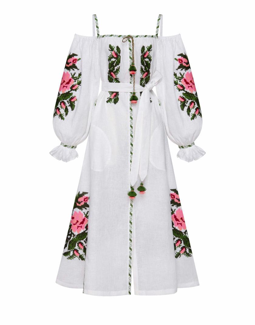 Льняное платье миди КЛЭР ШИК FOBERI_SS20091, фото 1 - в интернет магазине KAPSULA