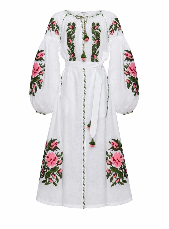 Льняное платье миди КЛЭР ШИК FOBERI_SS20092, фото 1 - в интеренет магазине KAPSULA