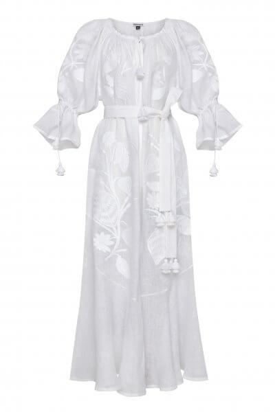 Льняное платье макси Эдем FOBERI_SS20093, фото 9 - в интеренет магазине KAPSULA