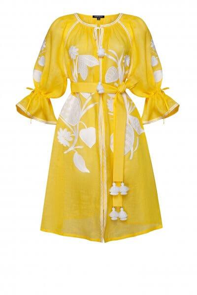 Льняное платье мини Эдем FOBERI_SS20095, фото 1 - в интеренет магазине KAPSULA