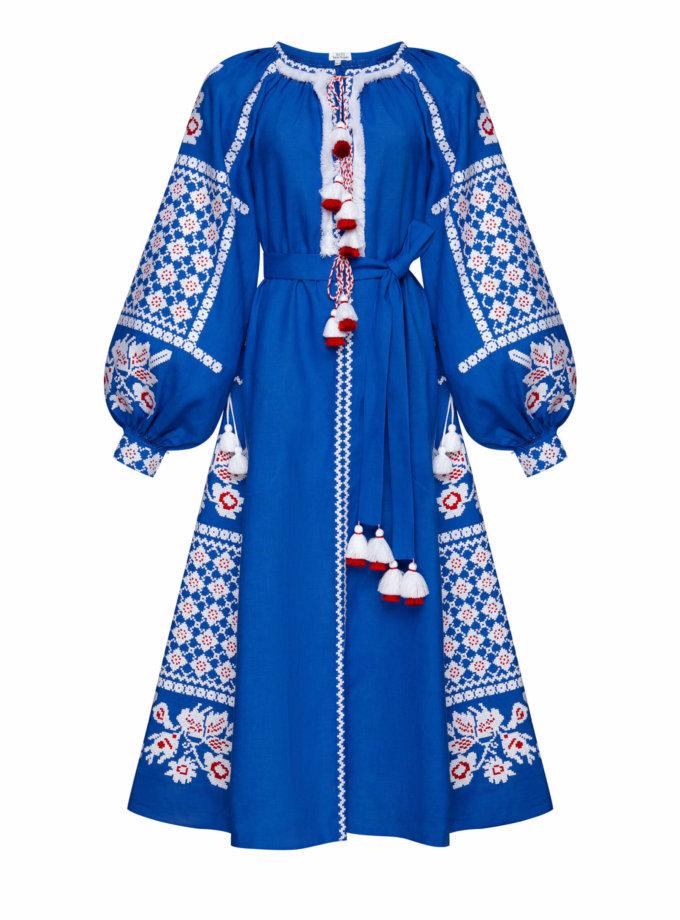 Льняное платье миди Золото FOBERI_SS20102, фото 1 - в интеренет магазине KAPSULA