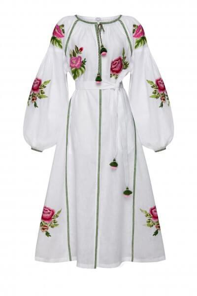 Льняное платье миди Флора шик FOBERI_SS20103, фото 1 - в интеренет магазине KAPSULA