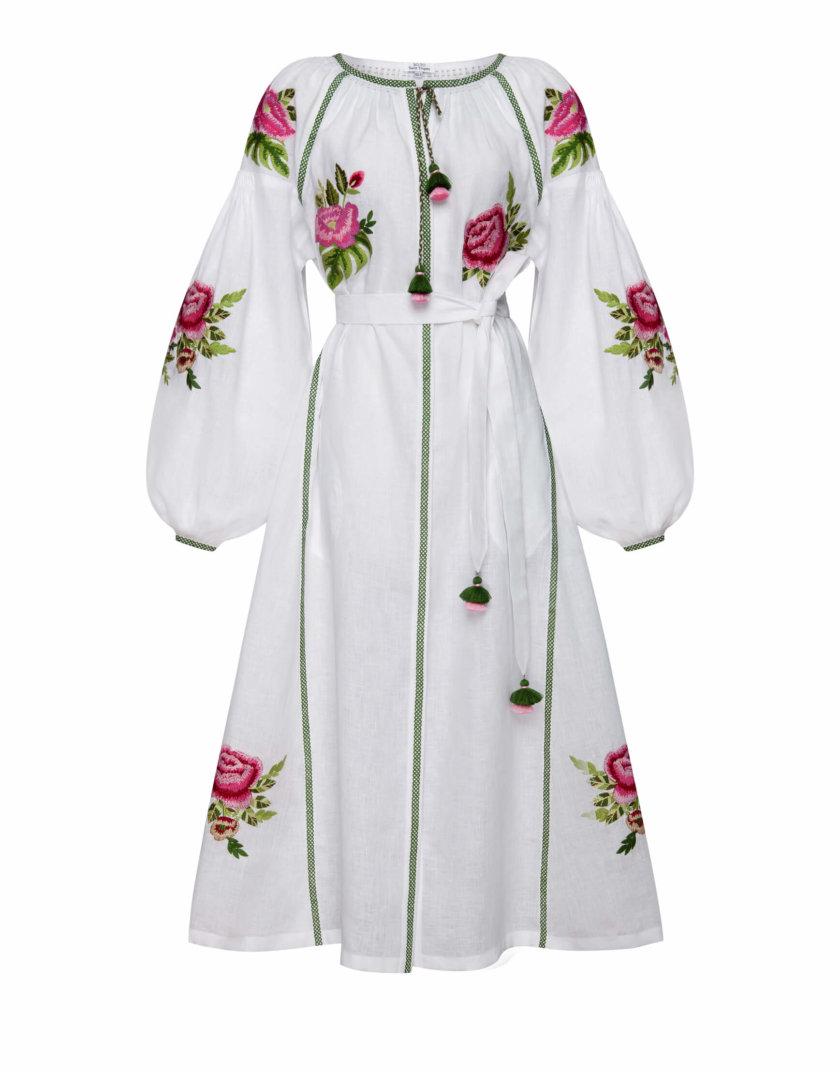 Льняное платье миди Флора шик FOBERI_SS20103, фото 1 - в интернет магазине KAPSULA