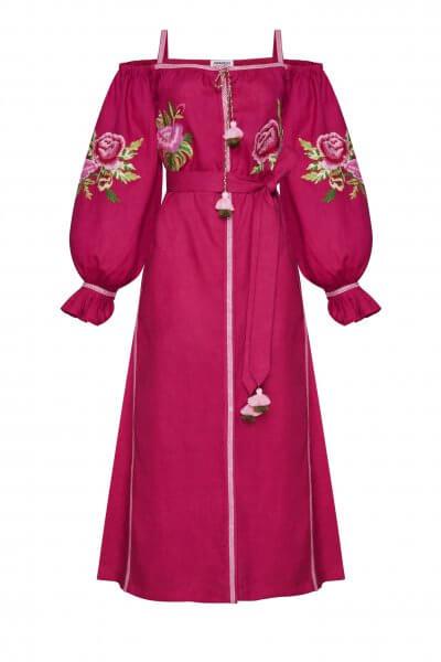 Льняное платье миди Флора FOBERI_SS20105, фото 1 - в интеренет магазине KAPSULA