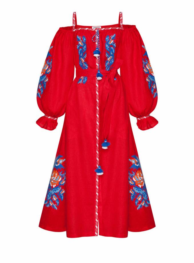 Льняное платье миди Клэр шик FOBERI_SS20107, фото 1 - в интеренет магазине KAPSULA