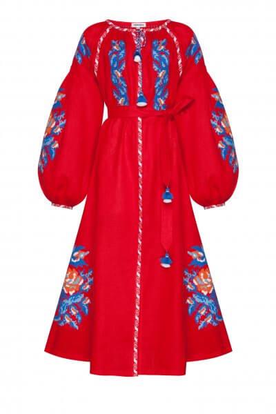 Льняное платье миди Клэр шик FOBERI_SS20108, фото 1 - в интеренет магазине KAPSULA