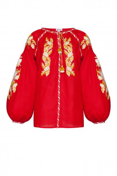 Льняная блуза Клэр FOBERI_SS20110, фото 1 - в интеренет магазине KAPSULA