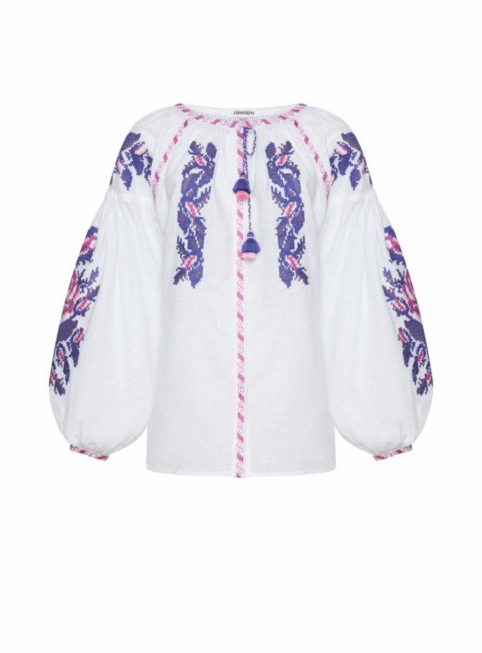 Льняная блуза Клэр FOBERI_SS20111, фото 1 - в интернет магазине KAPSULA