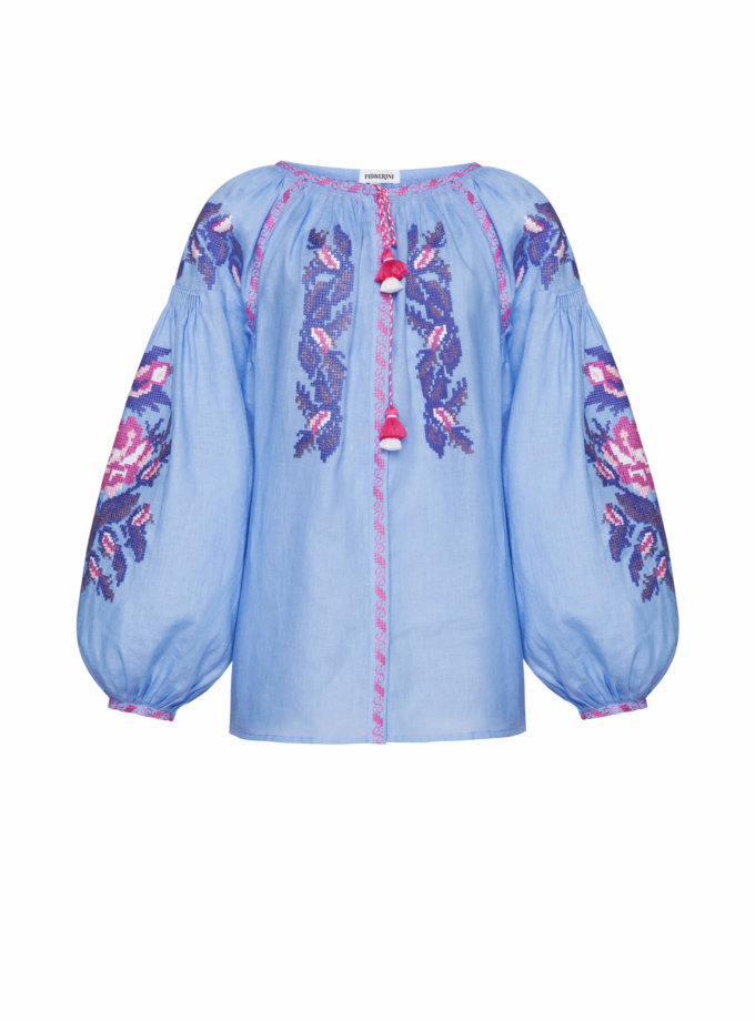 Льняная блуза Клэр FOBERI_SS20112, фото 1 - в интеренет магазине KAPSULA