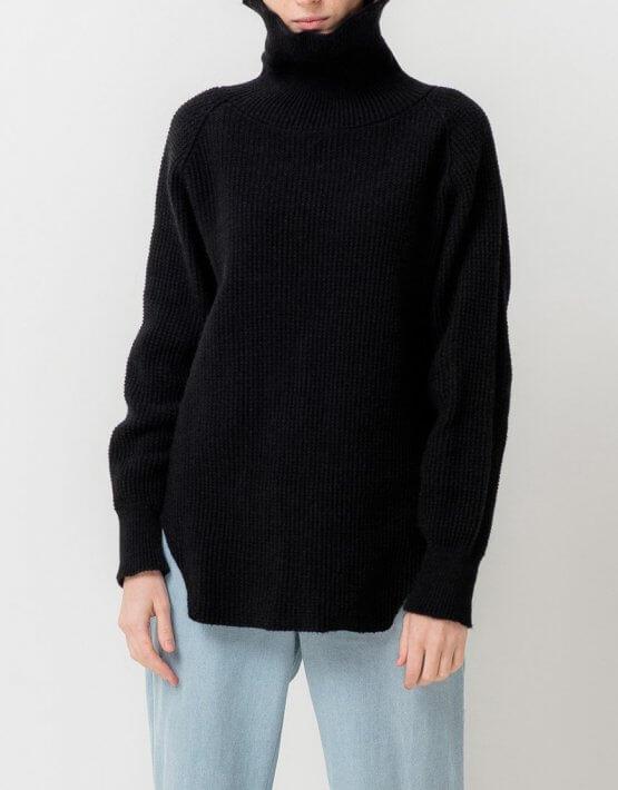 Удлиненный свитер с разрезами TFAM_AN12, фото 6 - в интеренет магазине KAPSULA