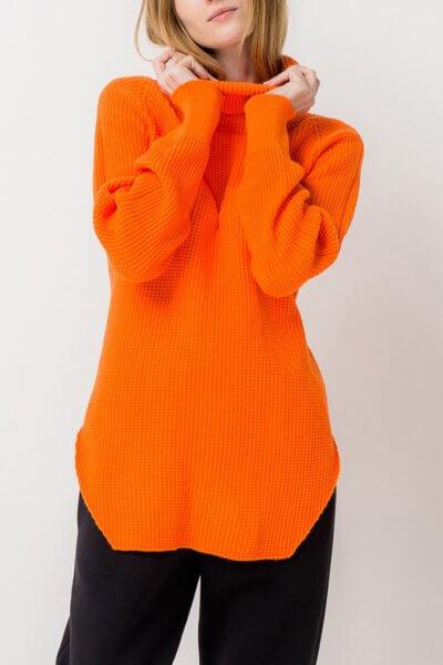 Удлиненный свитер с разрезами TFAM_AN13, фото 1 - в интеренет магазине KAPSULA