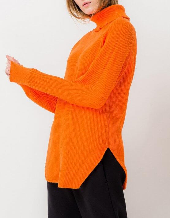 Удлиненный свитер с разрезами TFAM_AN13, фото 6 - в интеренет магазине KAPSULA